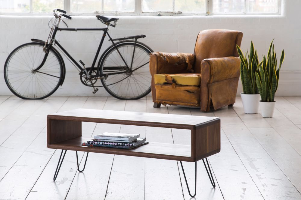 Midcentury styles influence the collection