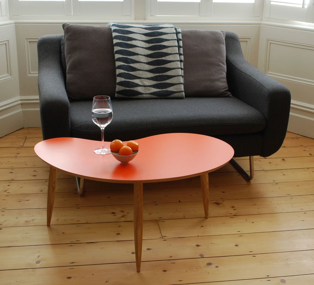Large Orange Bean table