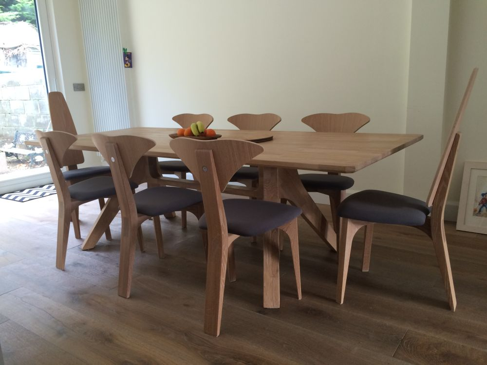 Veizla Table, with 6 Graphium Chairs and 2 Cauda Chairs