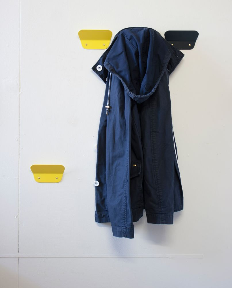 A range of aluminium coat hooks is the latest addition to Sara's collection.