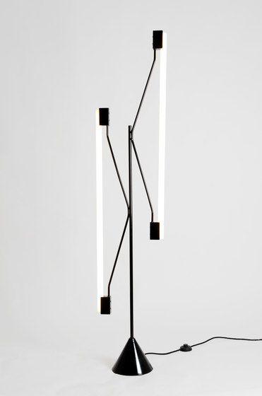2 Tubes Floor lamp by Atelier Areti by Atelier Areti