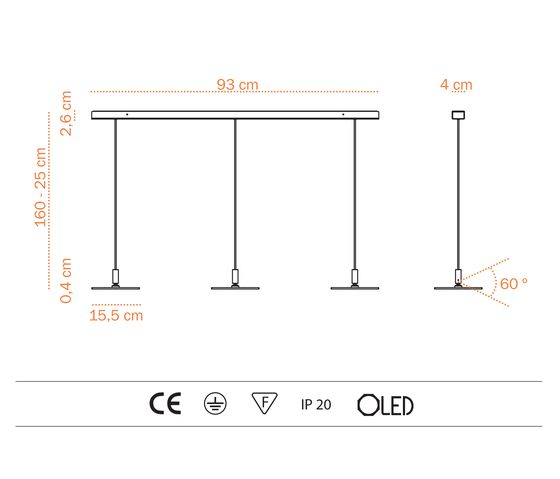 Adjust S OLED SH-6 by Bernd Unrecht lights by Bernd Unrecht lights