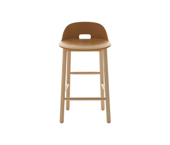 Alfi Counter Stool, Low Back by Emeco