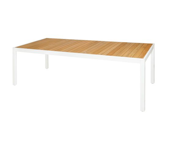 Allux dining table 220x100 cm (straight slats) by Mamagreen by Mamagreen