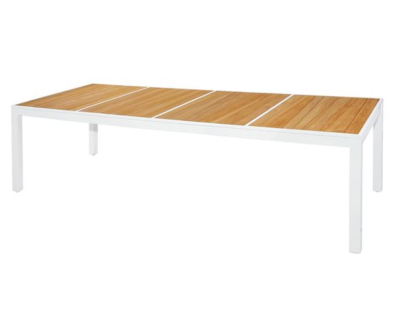 Allux dining table 270x100 cm (abstract slats) by Mamagreen by Mamagreen
