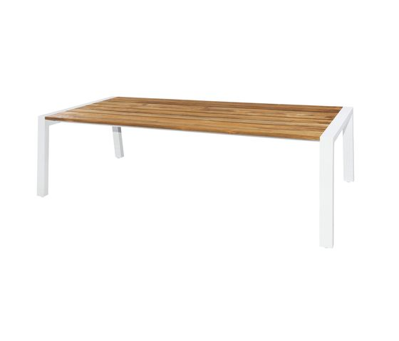 Baia dining table 240x100 cm (wood - post leg) by Mamagreen by Mamagreen