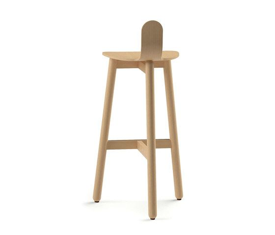 Beech Bar Stool 75 low by DUM by DUM