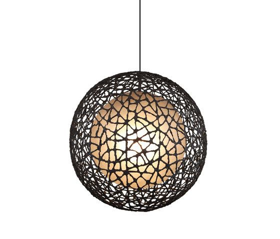 C-U C-Me Hanging Lamp round large by Kenneth Cobonpue by Kenneth Cobonpue