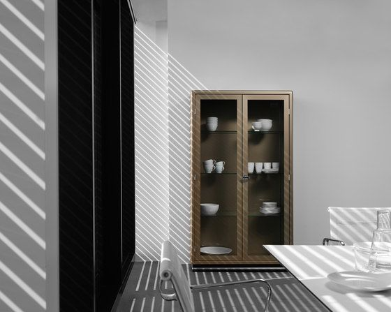 Classic Line SB 424 Glass cabinet by Müller Möbelfabrikation by Müller Möbelfabrikation