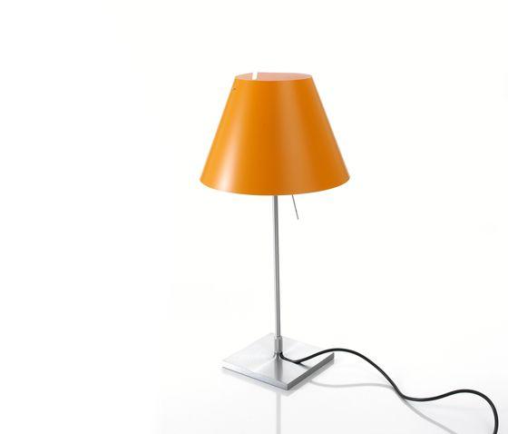 Costanzina table, Alu Base, Smart Yellow Shade by LUCEPLAN