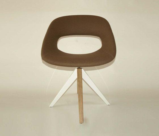 Diagonal Cross Legs Chair by dutchglobe by dutchglobe