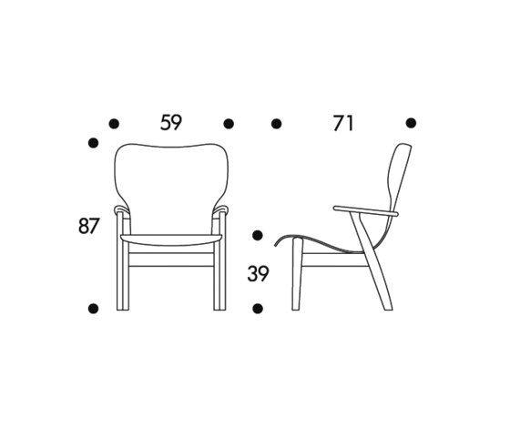 Domus Lounge Chair by Artek by Artek