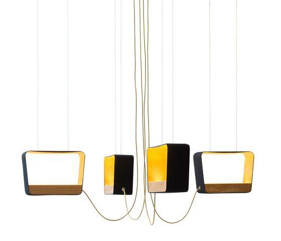Eau de lumière Chandelier 4 Medium Rectangle by designheure by designheure