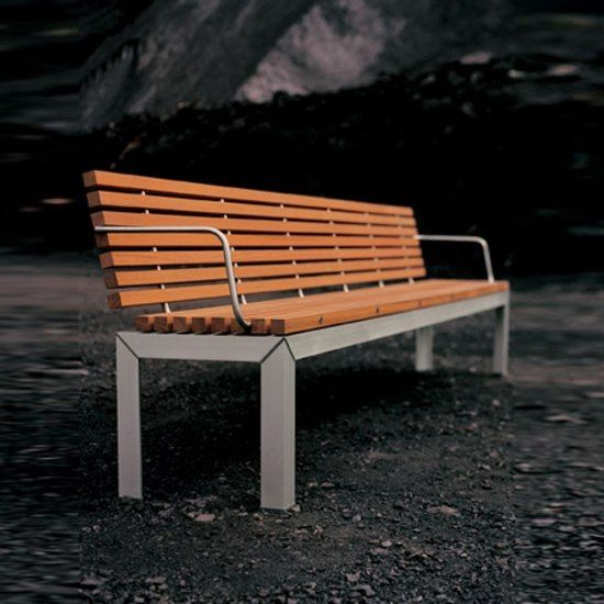 Extempore bench with back by extremis by extremis