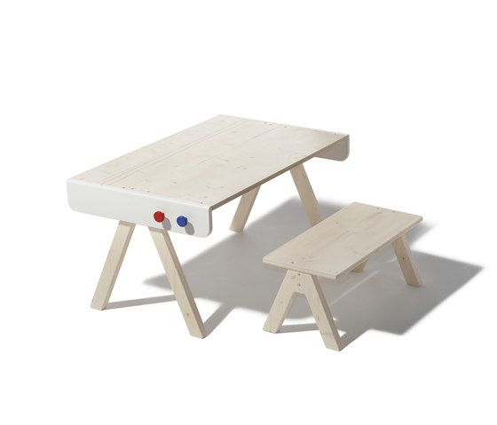 Famille Garage table and bench by Lampert by Lampert