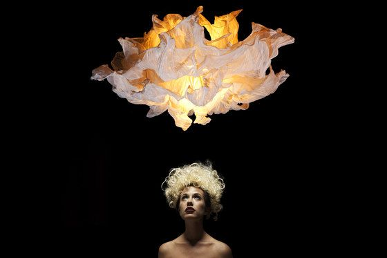 kenneth cobonpue lighting living room theatrical in expression the fandango dances midair with similar drama to girl waving her dress several layers of petals made from muslin cotton hanging lamp large by kenneth cobonpue