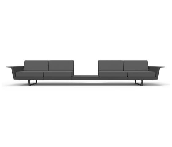 Flat sofa - 4 seat + table by Vondom