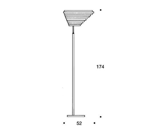Floor Lamp A805 by Artek by Artek