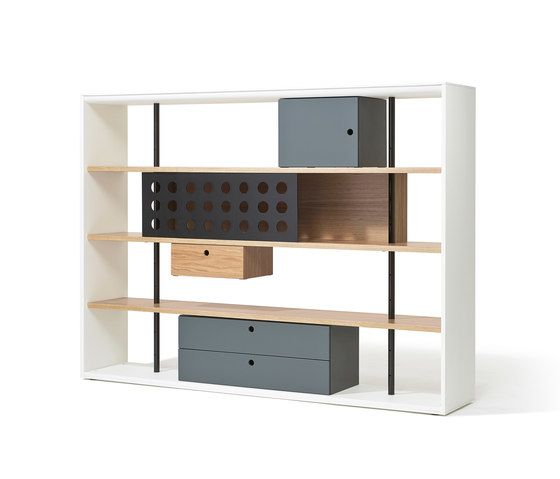 Frame shelving system by Lampert by Lampert