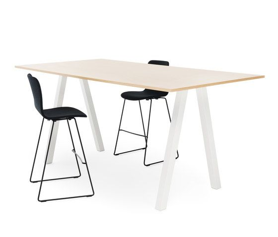 Frankie conference table high A-leg 110cm wood by Martela Oyj by Martela Oyj