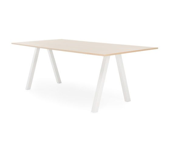 Frankie conference table high A-leg 90cm wood by Martela Oyj by Martela Oyj