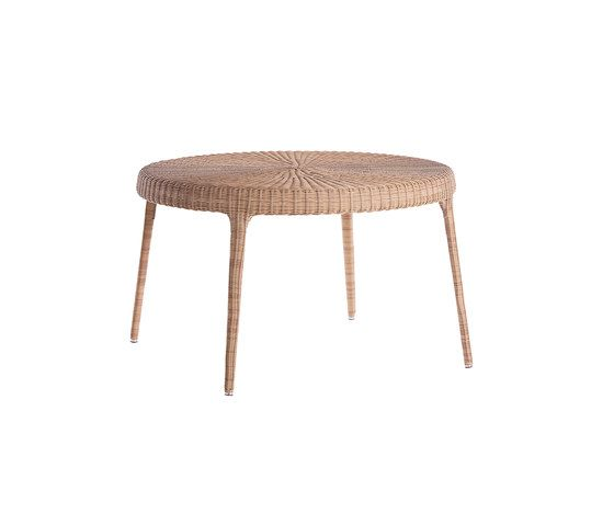 Green round dining table by Point by Point