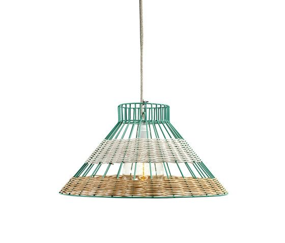 Hanging Lamp Rattan blue/white by Serax by Serax