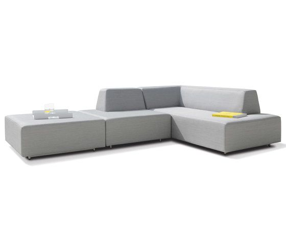 Happy Combination with a short and a long element and an ottoman by Rausch Classics by Rausch Classics