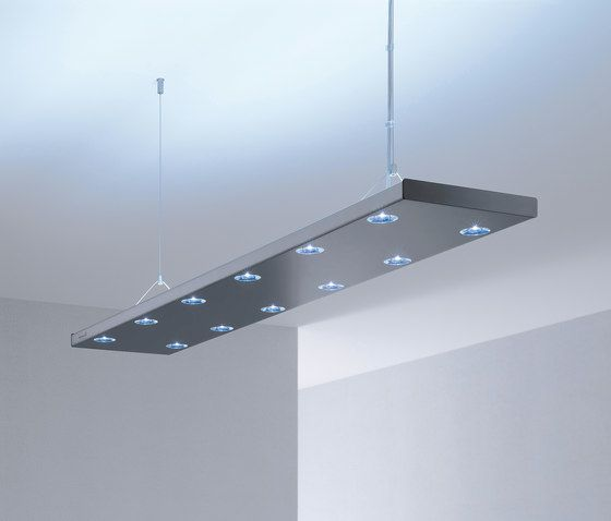 HYBRID LED Suspended Luminaire by H. Waldmann by H. Waldmann