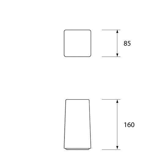 Ice Square 85 by Neoz Lighting by Neoz Lighting