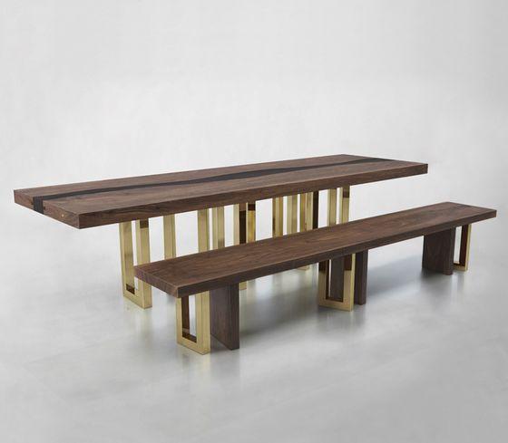 IL PEZZO 6 BENCH & TABLE by Il Pezzo Mancante by Il Pezzo Mancante