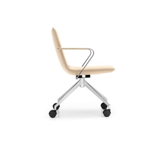 JACK 4-legged chair with coasters by Girsberger by Girsberger