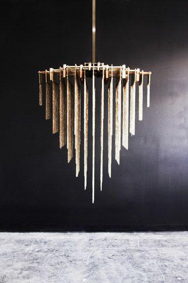 KELLY Chandelier - Brass by Gabriel Scott by Gabriel Scott