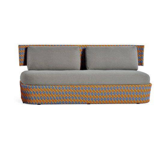 Kente colored outdoor sofa by Varaschin by Varaschin