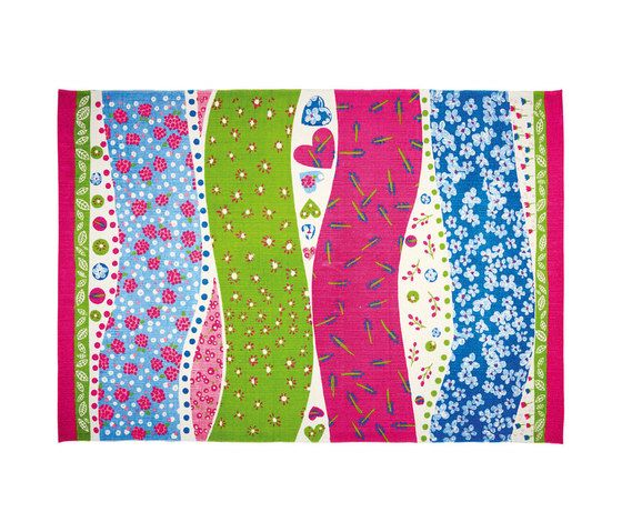 Kids Rugs - Dotty Hearts Fuchsia by Designers Guild by Designers Guild