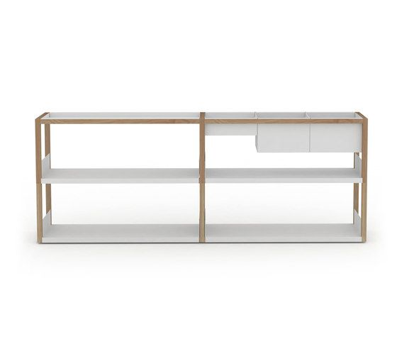 Lap shelving low by Case Furniture by Case Furniture