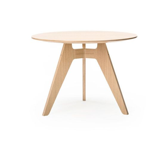 Lavitta 3-legged round table by Poiat by Poiat