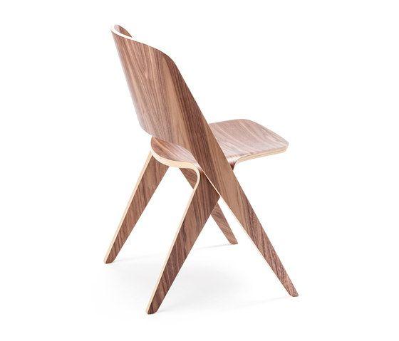 Lavitta chair misty walnut by Poiat by Poiat