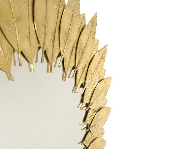 Leaf | Round Mirror by GINGER&JAGGER by GINGER&JAGGER
