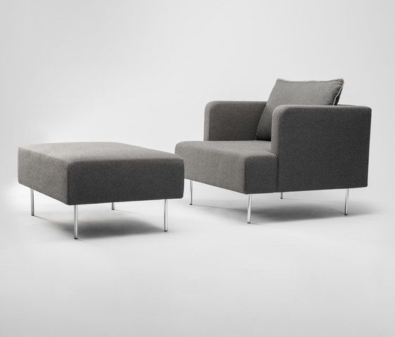 Levit Armchair and Ottoman by Comforty by Comforty