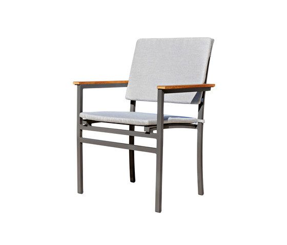 Long Beach Stacking chair with seat and back cushions by Rausch Classics by Rausch Classics