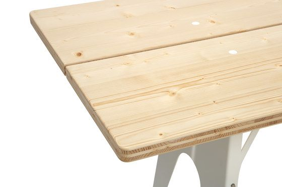 Ludwig table and bench by Lampert by Lampert