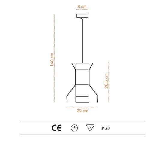 Mascolino S - Pendant lamp by Bernd Unrecht lights by Bernd Unrecht lights