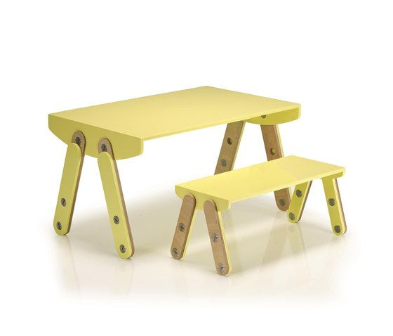 Milky Desk & Bench by GAEAforms by GAEAforms