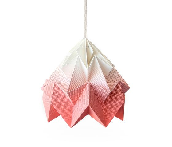 Moth Lamp - Gradient Coral by Studio Snowpuppe by Studio Snowpuppe