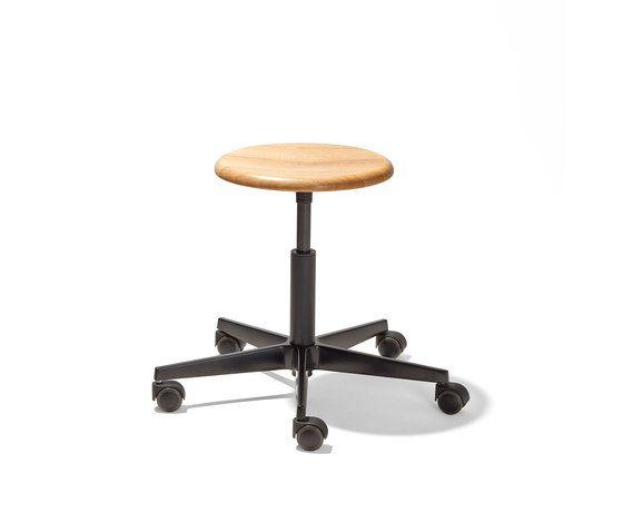 Mr. Round swivel stool by Lampert by Lampert