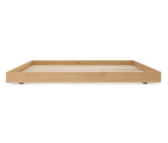 Oak bed double by Bautier by Bautier