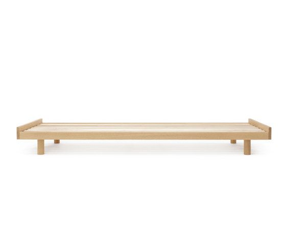 Oak bed frame by Bautier by Bautier