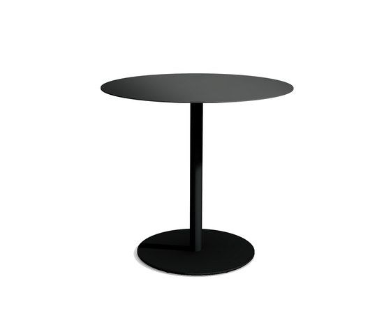 odette table 70 x 70 x 100 cm black - metal by massproductions