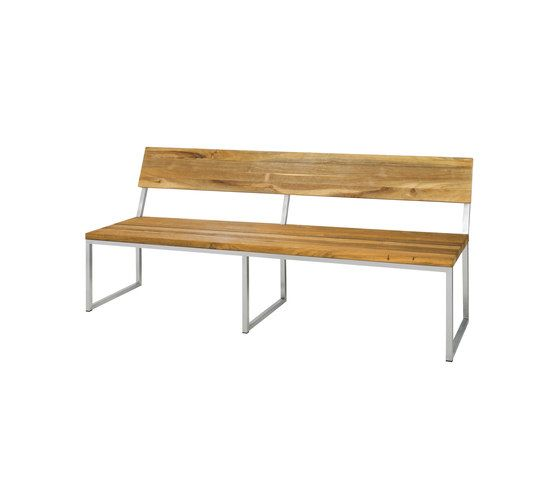 Oko bench 185 cm with backrest by Mamagreen by Mamagreen